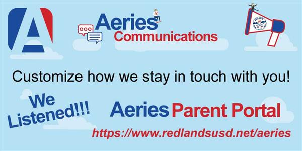 AERIES Communication & Parent Portal Information